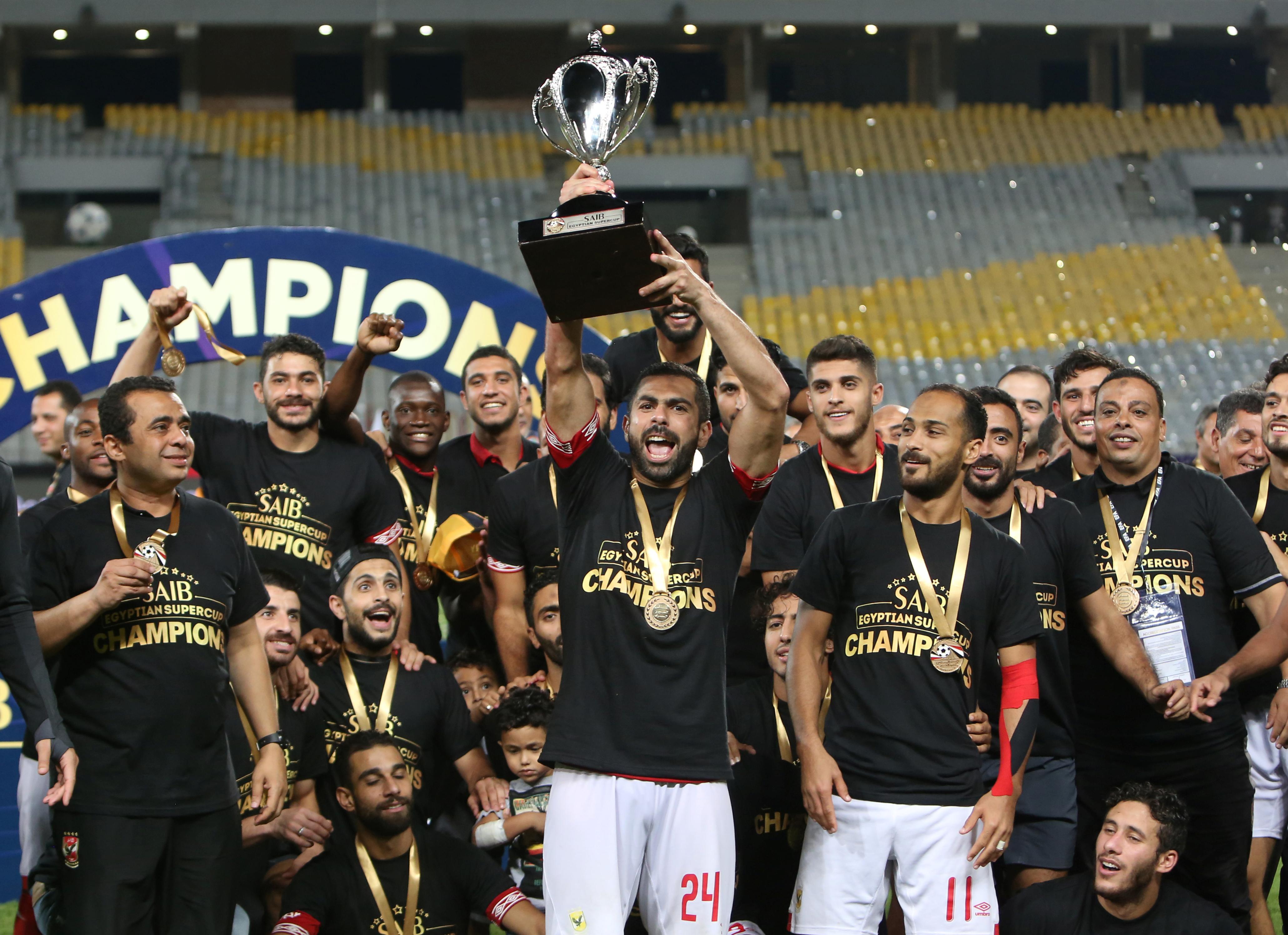 ثنائية أجايي تقود الأهلي للقب كأس السوبر المصرية دبي الرياضية